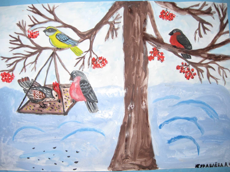 Рисунок на тему зима на конкурс